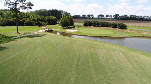 View of the 10th green from the Tired Creek Golf Course