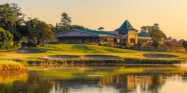 View of the clubhouse at Nudgee Golf Club.