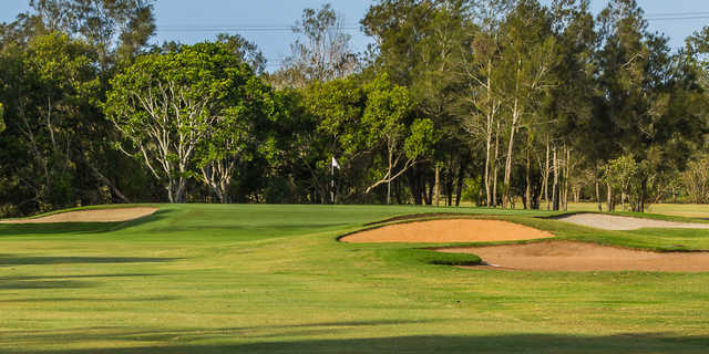 View of a green at Nudgee Golf Club