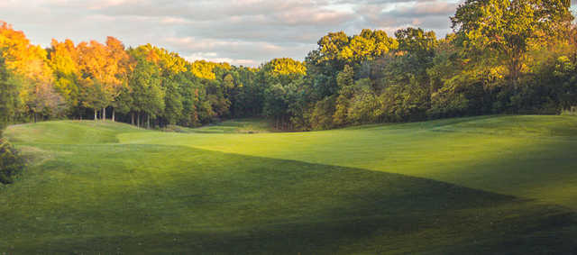 A view of a fairway at Missouri Bluffs Golf Club.
