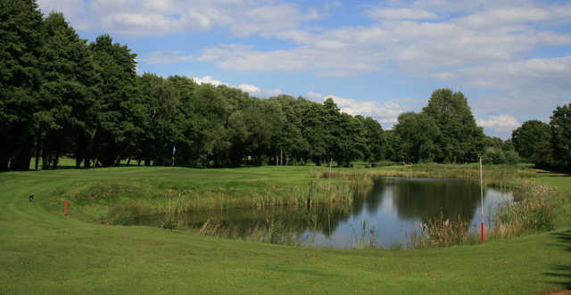 View of the 3rd green from the Blue Course at Frilford Heath Golf Club