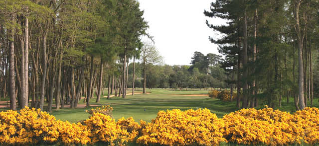 View from the 13th tee from the Blue Course at Frilford Heath Golf Club