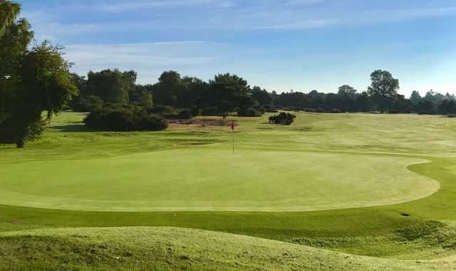 View of a green from the Red Course at Frilford Heath Golf Club