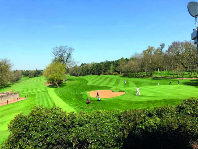 View of the 1st and 18th holes from the Green Course at Frilford Heath Golf Club
