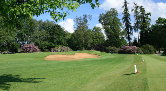 View of the 16th hole from the Green Course at Frilford Heath Golf Club
