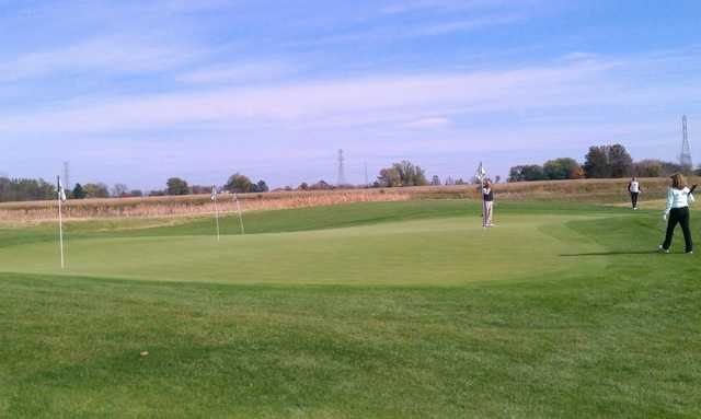 A view of the practice putting green at Scioto Reserve Country Club