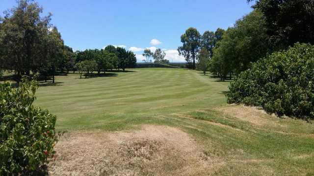 View of a fairway at Jindalee Golf Club