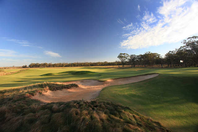 A view of fairway #17 at Eynesbury Golf Course.