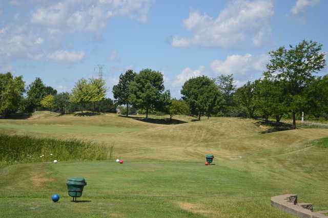 A view from a tee at Grayslake Golf Course.