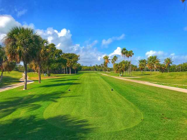 View from the 2nd tee at Crandon Golf at Key Biscayne