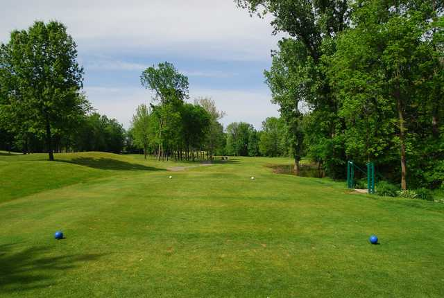 A view from a tee at Sycamore Hills Golf Club.