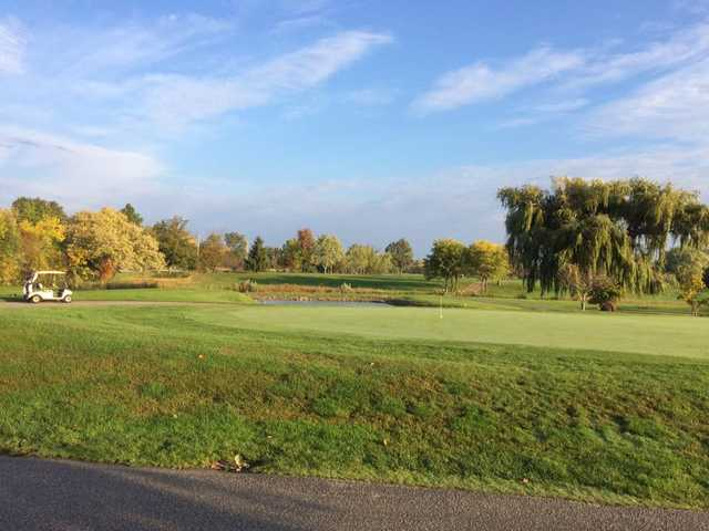 A fall day view from Fox Glen Golf Course.