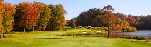 Fall view from Mercer Oaks Golf Course
