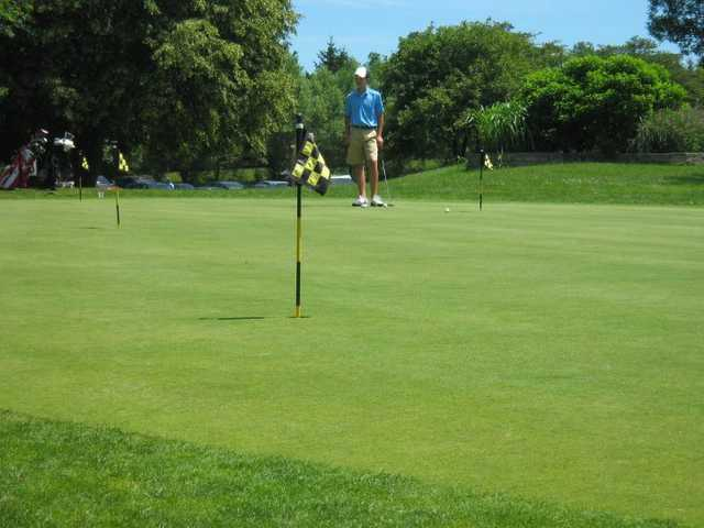 A view of the putting green at Little Turtle Country Club