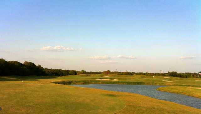 View from Roy Kizer Golf Course's finishing hole