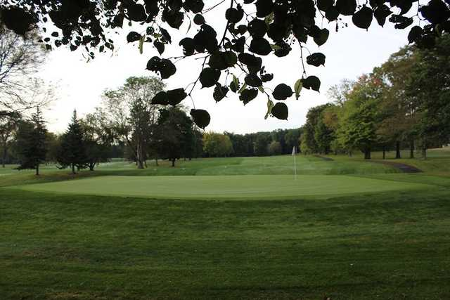 A view of a green at Yankee Run Golf Course.