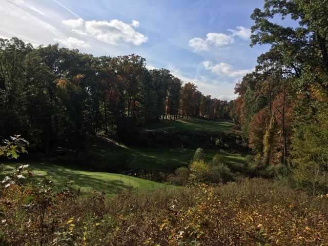 A fall day view from Binder Park Golf Course.
