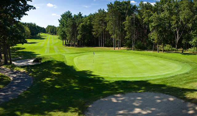 A view of the 1st green at Candlestone Inn & Golf Resort.