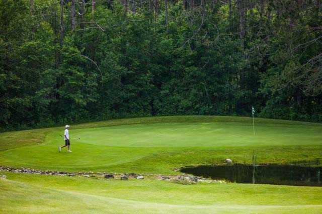 A view of a hole at Spruce Course from Evergreen Resort.