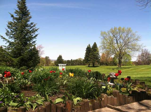 A spring day view from Evergreen Resort.