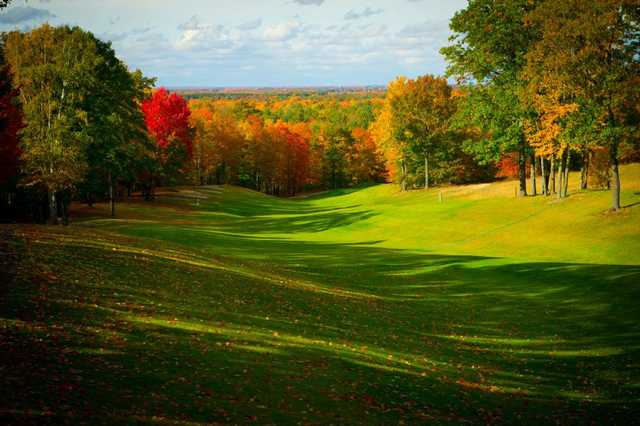 A view of the 5th fairway at The Lakes Golf Course.