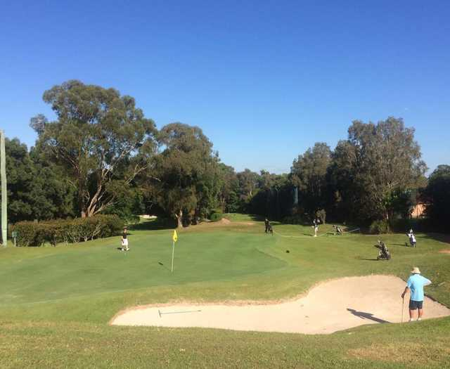 View of a green at Gordon Golf Club