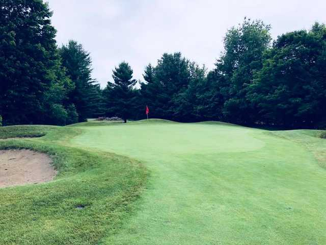 A view of a hole at Mistwood Golf Course.