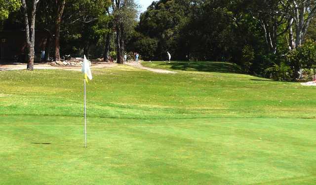 A view of the 10th green at Gordon Golf Club.
