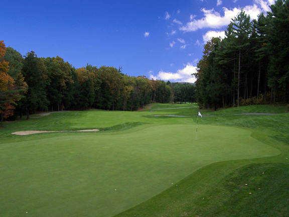 A view of green #2 at Crumpin-Fox Club