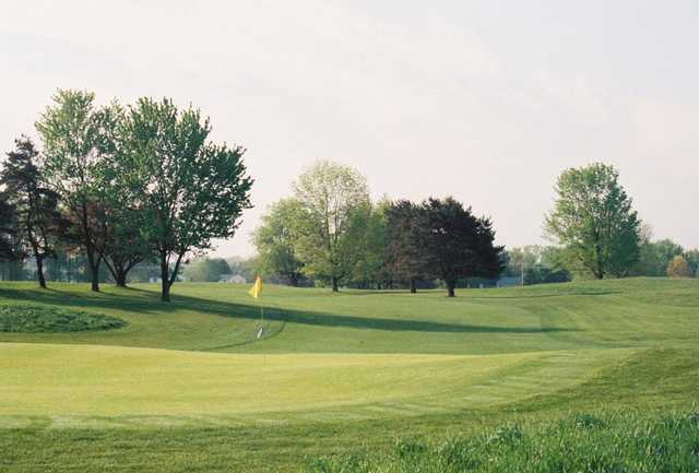 A view of hole #1 at Meridian Sun Golf Club.