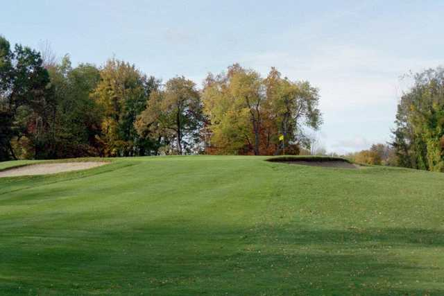 A view of a well protected green at Meridian Sun Golf Club.