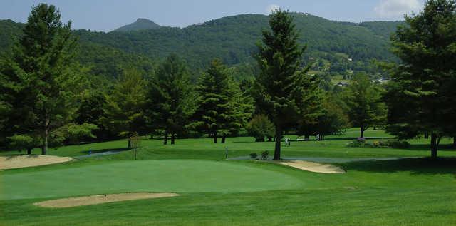 View of a green at Sugar Mountain Golf Club