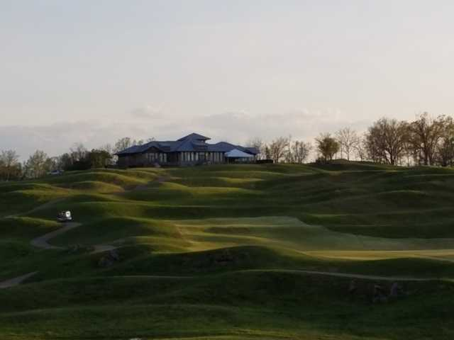 View of the clubhouse at GreyStone Golf Club.