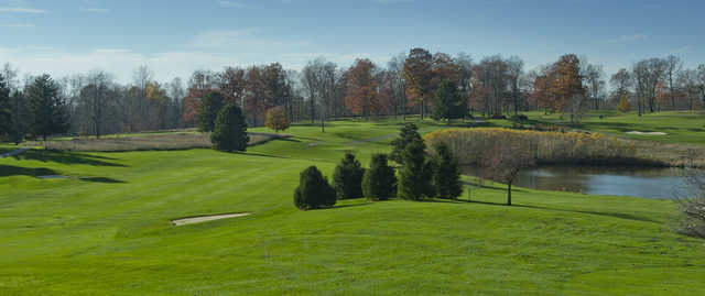 View of the 18th hole at Zollner Golf Course