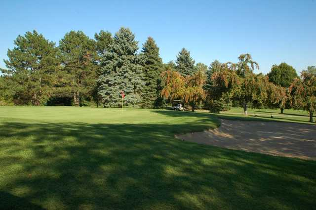 A view of a hole at Hilltop Golf Course.
