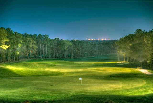 A view of the 18th green at Sea Oaks Country Club.