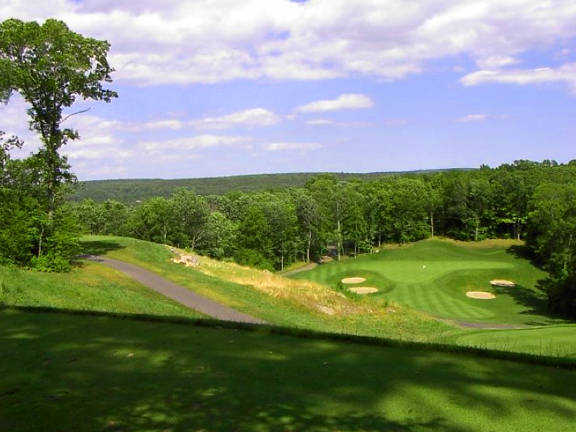 A view of the 4th hole at Fox Hopyard Golf Club