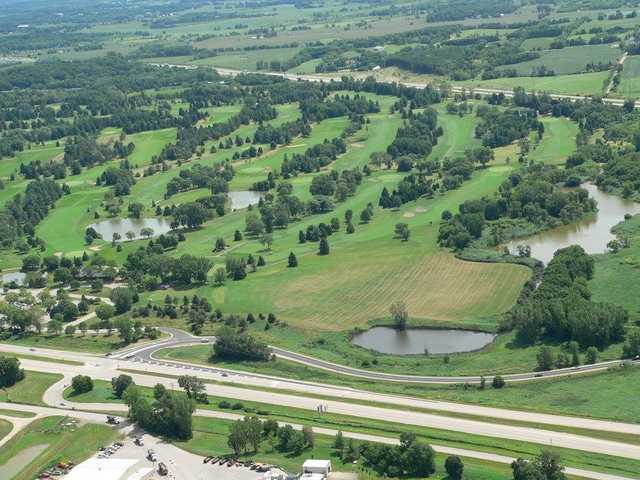 Aerial view from Yahara Hills Golf Course.