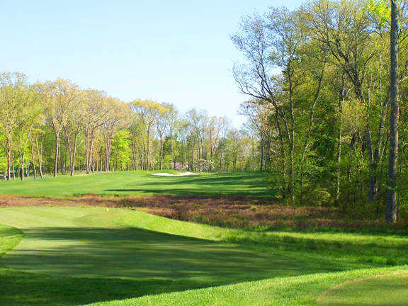 A view of hole #8 at Fox Hopyard Golf Club