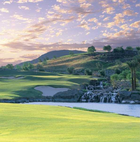 A view of the 7th hole at DragonRidge Golf Course.