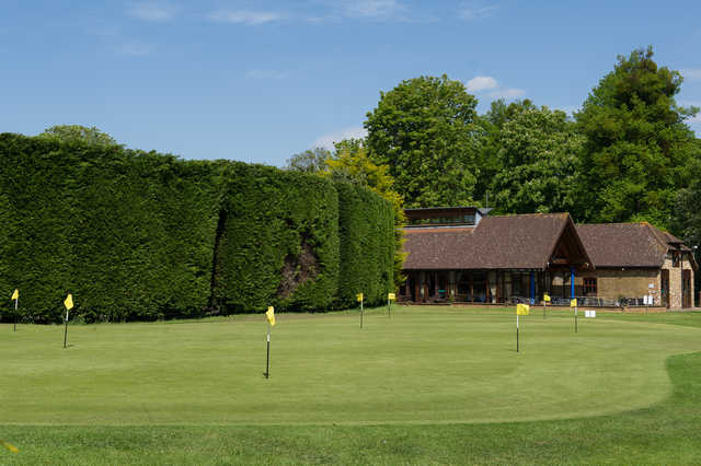 View of the puttin green at Richings Park Golf Club