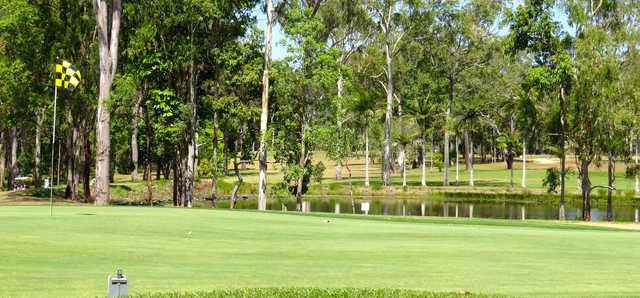 View from a green at Atherton Golf Club