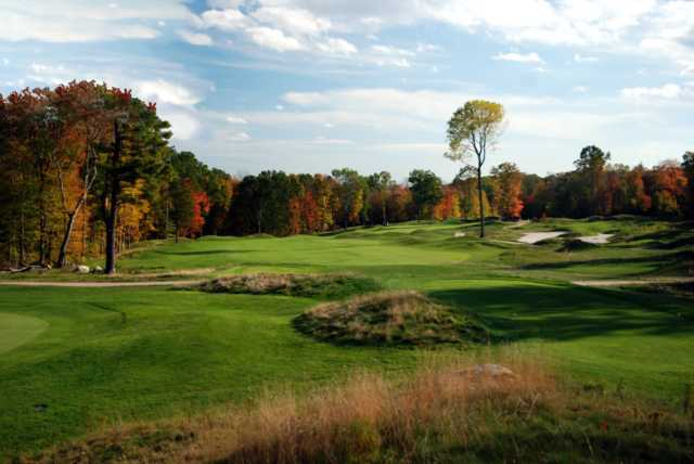 A view of tee #2 at Connecticut National Golf Club.