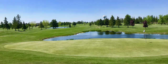 Looking back from the 13th green at Mitchell Golf and Country Club.