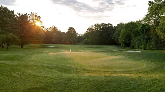 A view of the 13th green at Sterling Farms Golf Course.