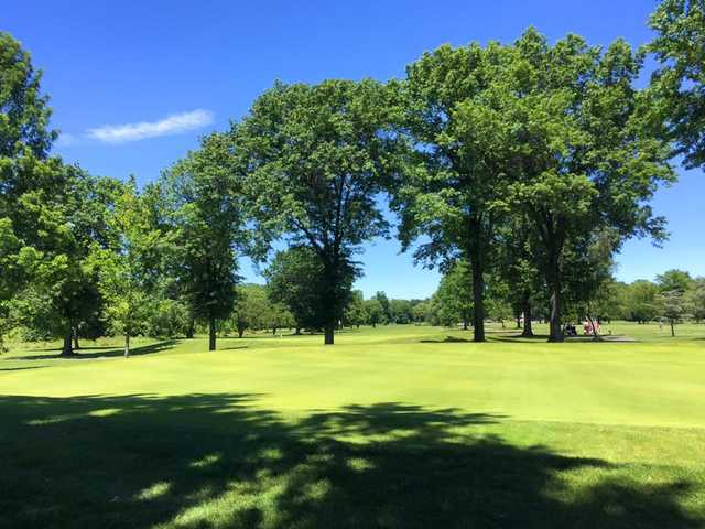 A view of the 8th hole at Soldier Hill Golf Course.