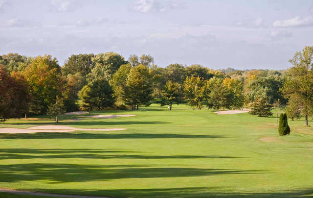 A view of the 1st hole at Red from Ramblewood Country Club.