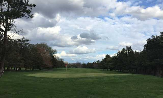 A view of a hole at Rutgers University Golf Course.