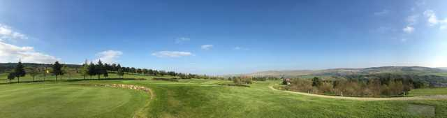 Panoramic view from Todmorden Golf Club