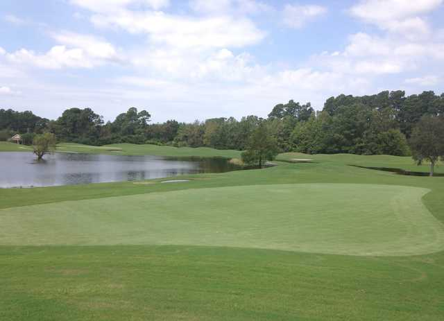 A view of green #6 from Lion's Paw at Ocean Ridge Plantation.